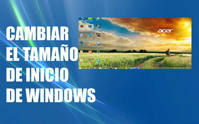 Cambiar el tamano de escritorio de windows