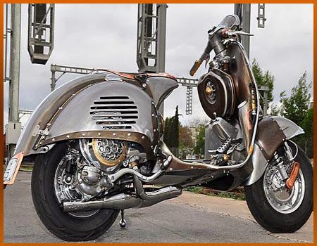 motor skuter ini di sebut motor terkuat lihat model modifikasi vespa title=