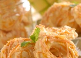 Kue Kering Keju Renyah Almond Slice, Kue Kering Spesial Khas Lebaran