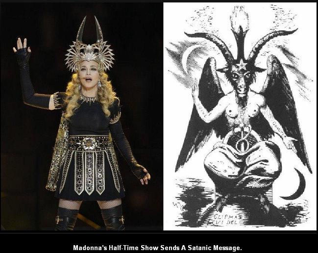 we saw that...: satanic ritual performed at super bowl ...
