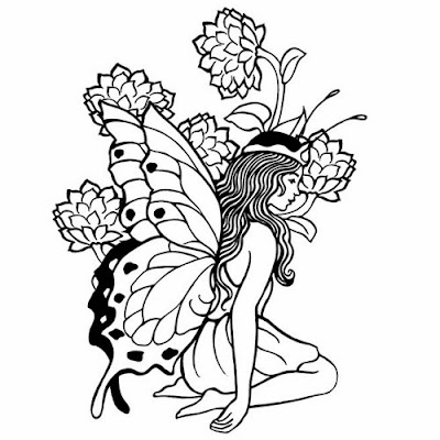 Fairies Coloring Pages Clip Art
