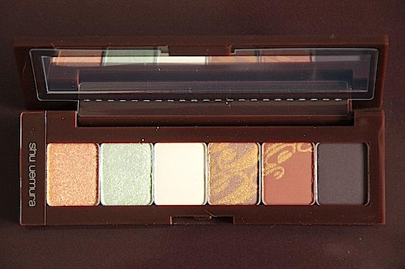 shu uemura chocolat donna collection maquillage automne 2012 palette mint & vanilla