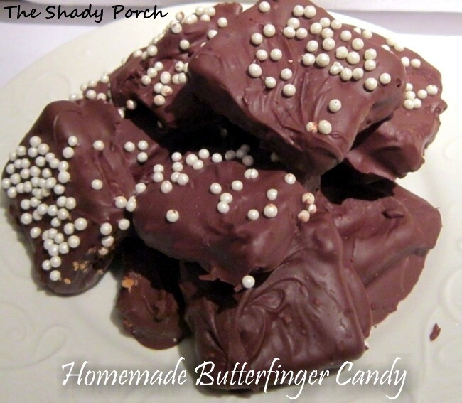 Homemade Butterfinger Candy by The Shady Porch #candy #butterfinger # ...