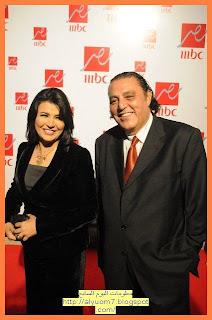 """الفنان حسين الإمام مع الإعلامية منى الشاذلي، والتي انضمت إلى قناة mbc """"مصر"""" بعد توقفها عن تقديم برنامج """"العاشرة مساءً"""" على قناة """"دريم 2"""""""