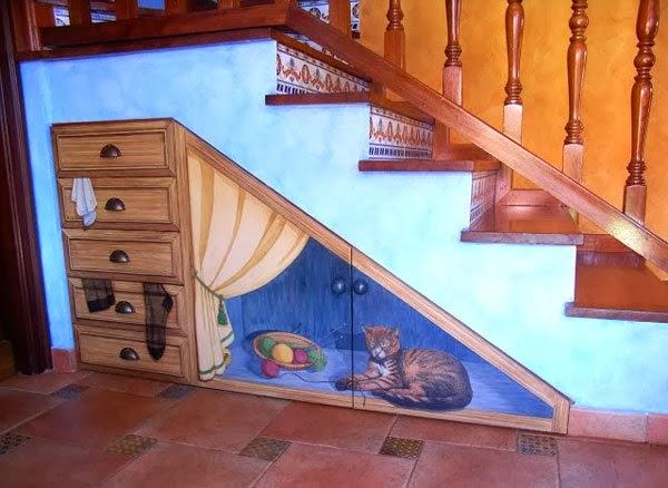 Aprovecha los espacios debajo de las escaleras aprende a for Decoracion debajo escaleras