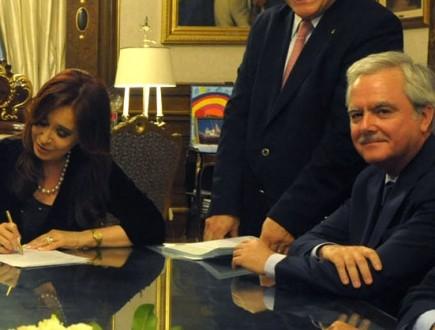 Cristina Kirchner y Federico Pinedo