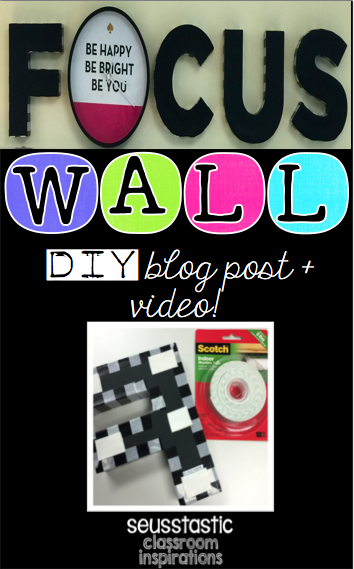 DIY FOCUS WALL LETTERS