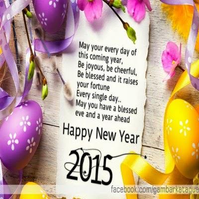 Gambar DP BBM spesial Tahun Baru 2015 Ucapan Bahasa Inggris