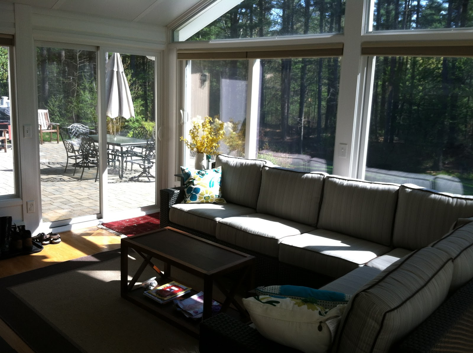 ... tv and furniture for the sunroom i m looking forward to enjoying a