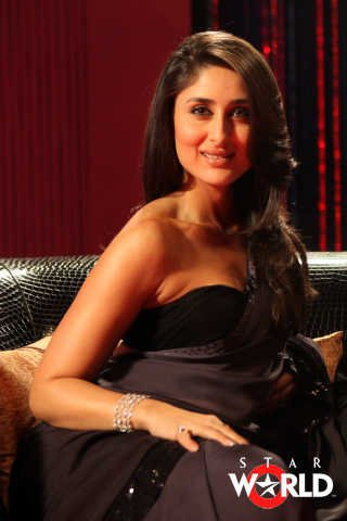 Kareena in Hot Black Dress on Koffee With Karan Season 3  - Kareena on Koffee With Karan Season 3 - blast from Past