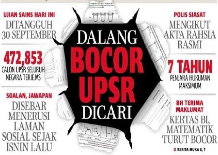 Soalan UPSR Bocor