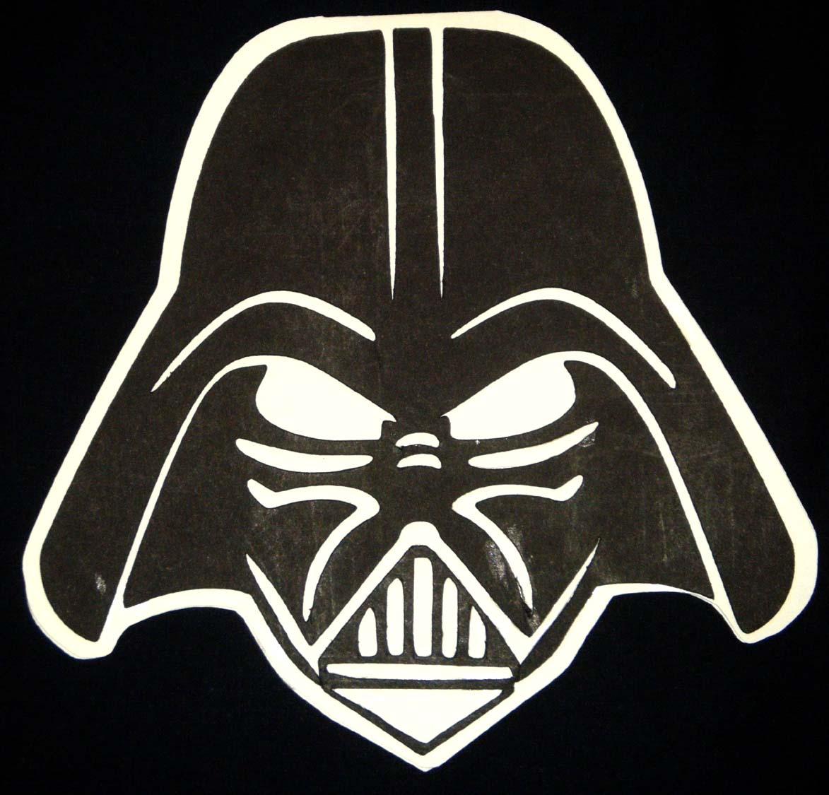 Darth Vader Shaped CardDarth Vader Face Vector