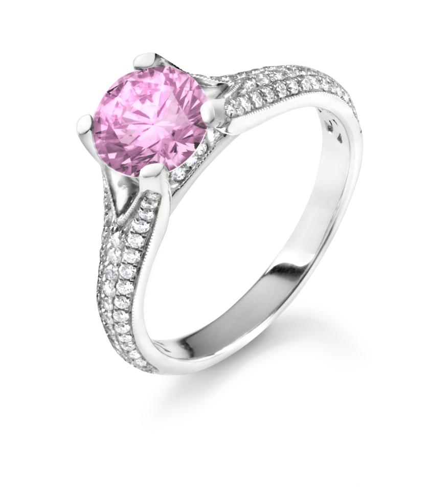 Man Made Diamonds Man Made Pink Diamond Engagement Rings