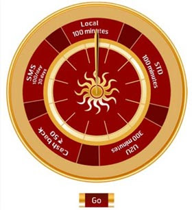 uninor-feeling-lucky-Spinning-a-Wheel