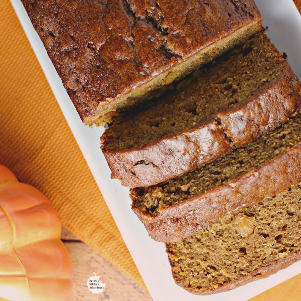 Spiced Pumpkin Bread | by Renee's Kitchen Adventures - Easy recipe for moist and flavorful pumpkin bread with a special spice!  You've got to check out what makes this bread so incredible!