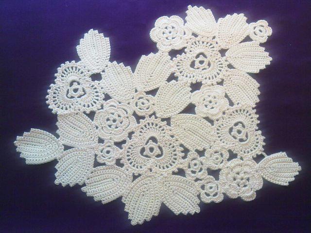 Irish Lace Knitting Pattern : irish lace connection diagram