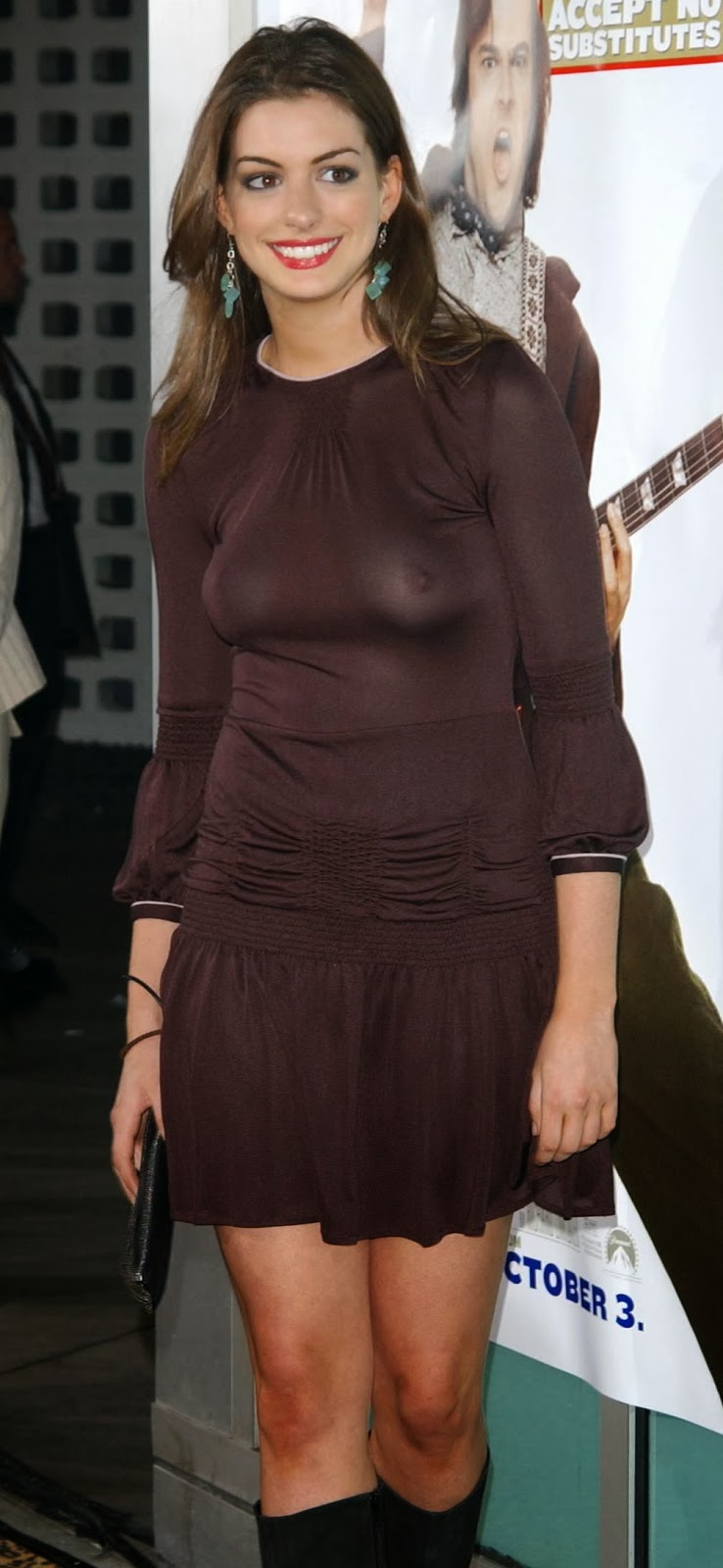 Anne hathaway see through clothes