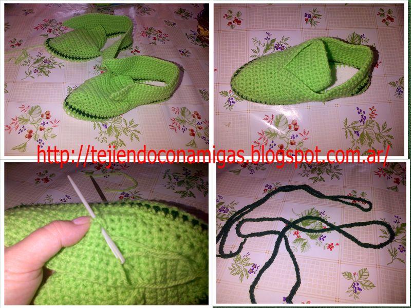 Как вязание крючком тапочки 586