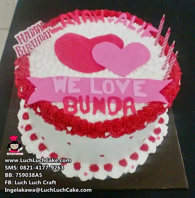 Kue Tart Romantis Untuk Pasangan Daerah Surabaya - Sidoarjo