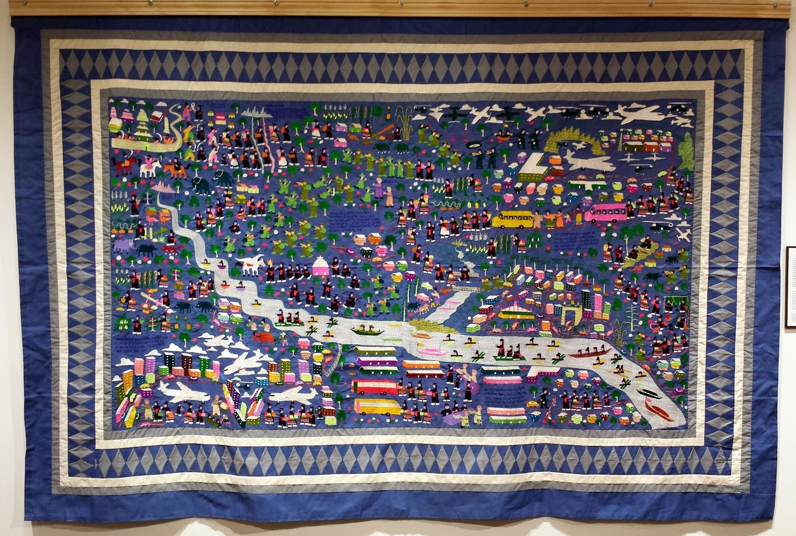 History and Culture by Bicycle: Homegrown Art: Tradition Quilt ... : hmong story quilt - Adamdwight.com