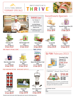 Shelf Reliance February Specials 2013 Thrive Sisters