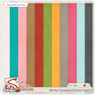Winter Candyland Newsletter Freebie by Snips and Snails Designs
