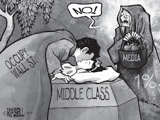 Cartoon: Occupy Movement's objective alarms the media