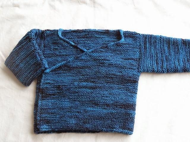 Garter Stitch Baby Kimono