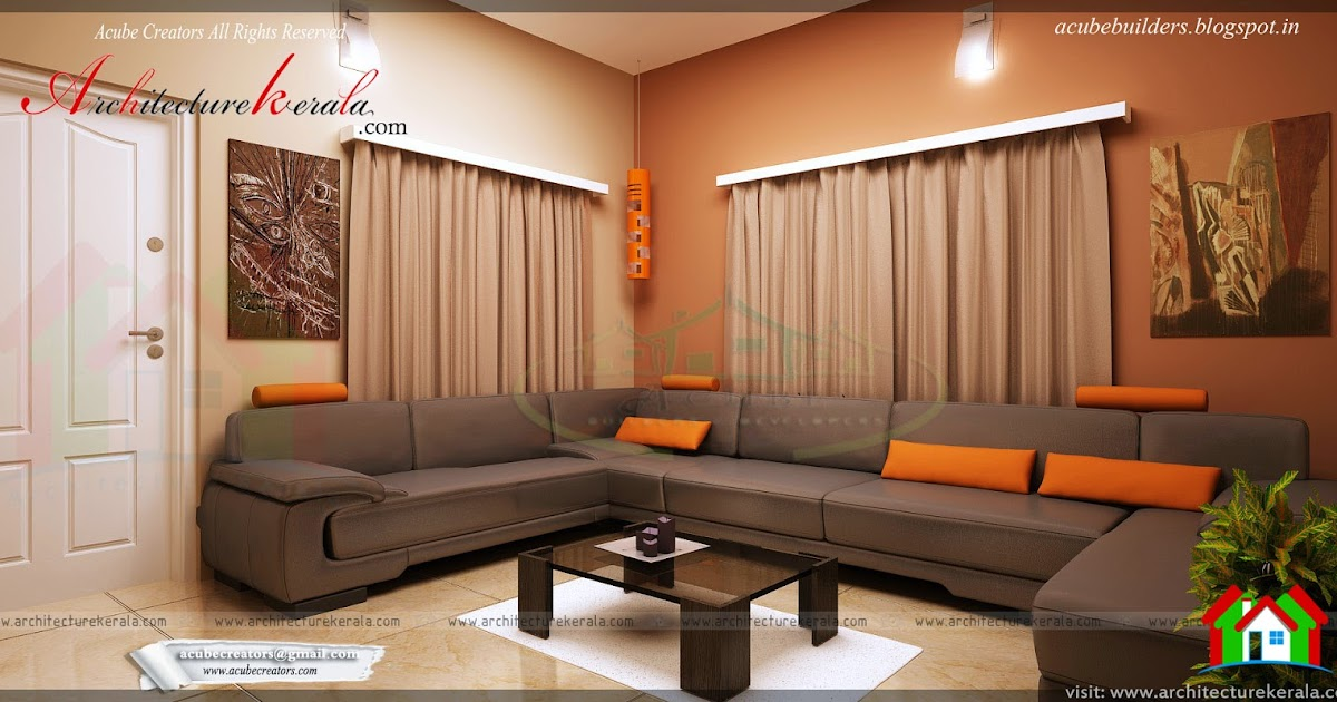 Drawing room interior design architecture kerala for House interior design kerala photos