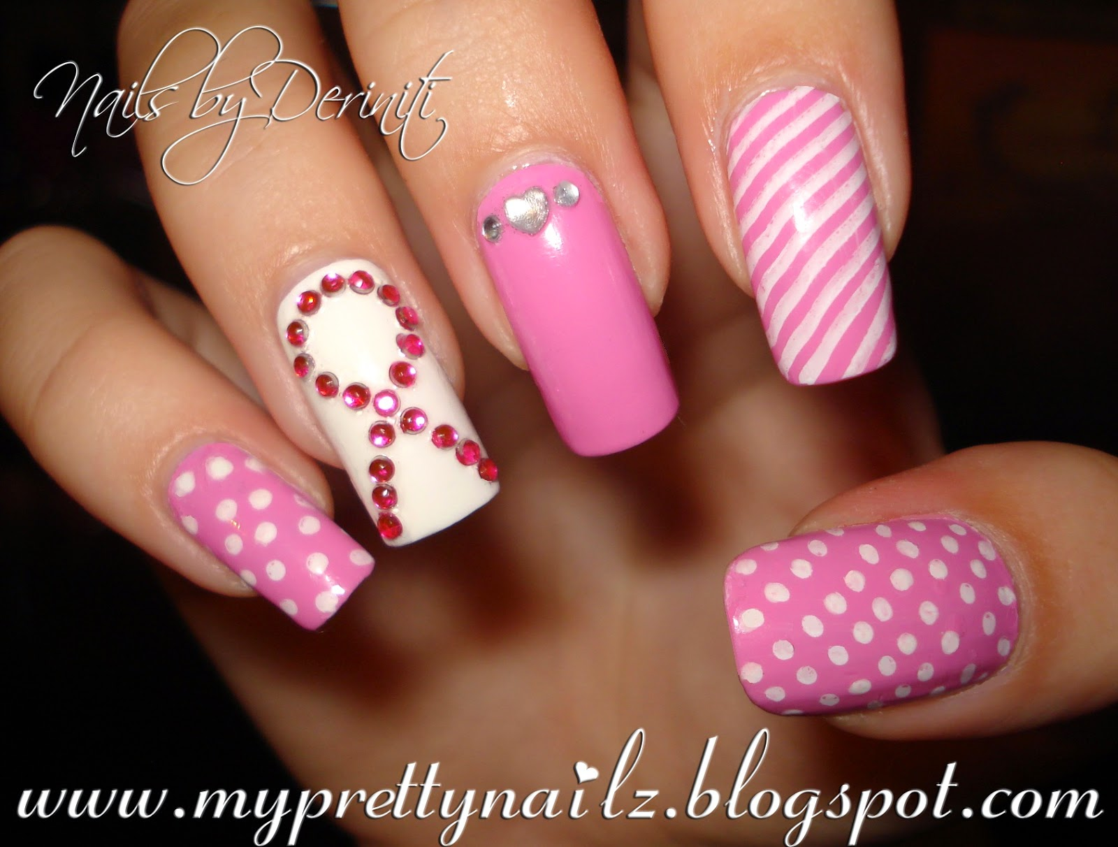 Breast cancer awareness nail art designs prinsesfo Gallery