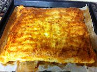 hacer empanada de hojaldre al horno de pisto
