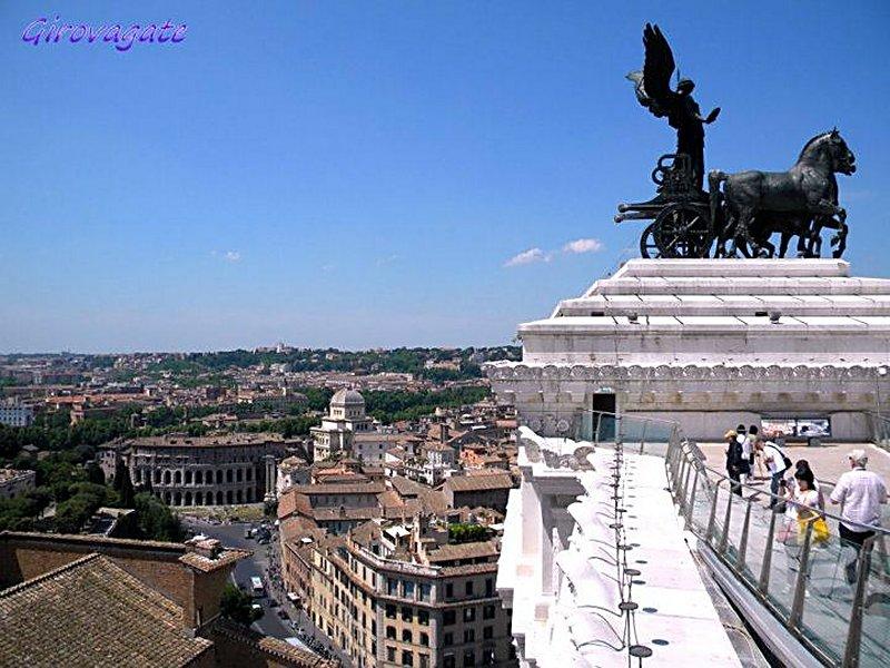 Il più bel panorama su Roma dalla terrazza delle Quadrighe sul ...