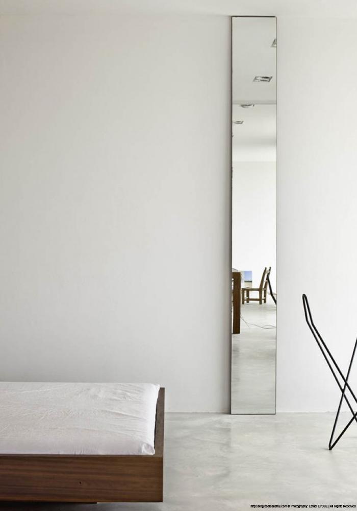 Wonderful Bathroom With Narrow Tall Mirrors Interior Design Ideas Bathroom