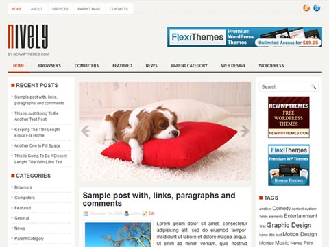 Nively Free WordPress Theme