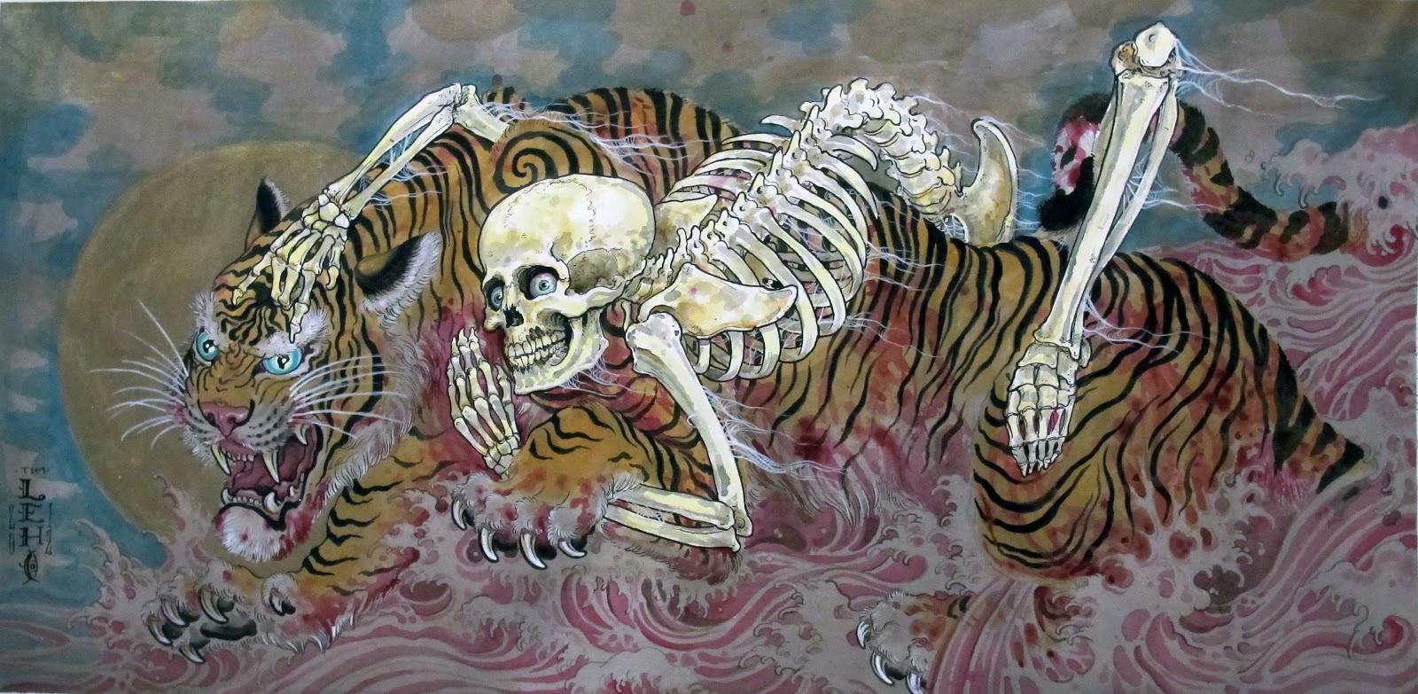 Tim Lehi Death Wealding A Tiger By Tim Lehi