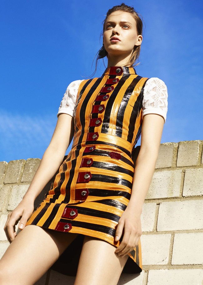 Louis Vuitton SS 2015 Deep Yellow Stripes Dress Editorials