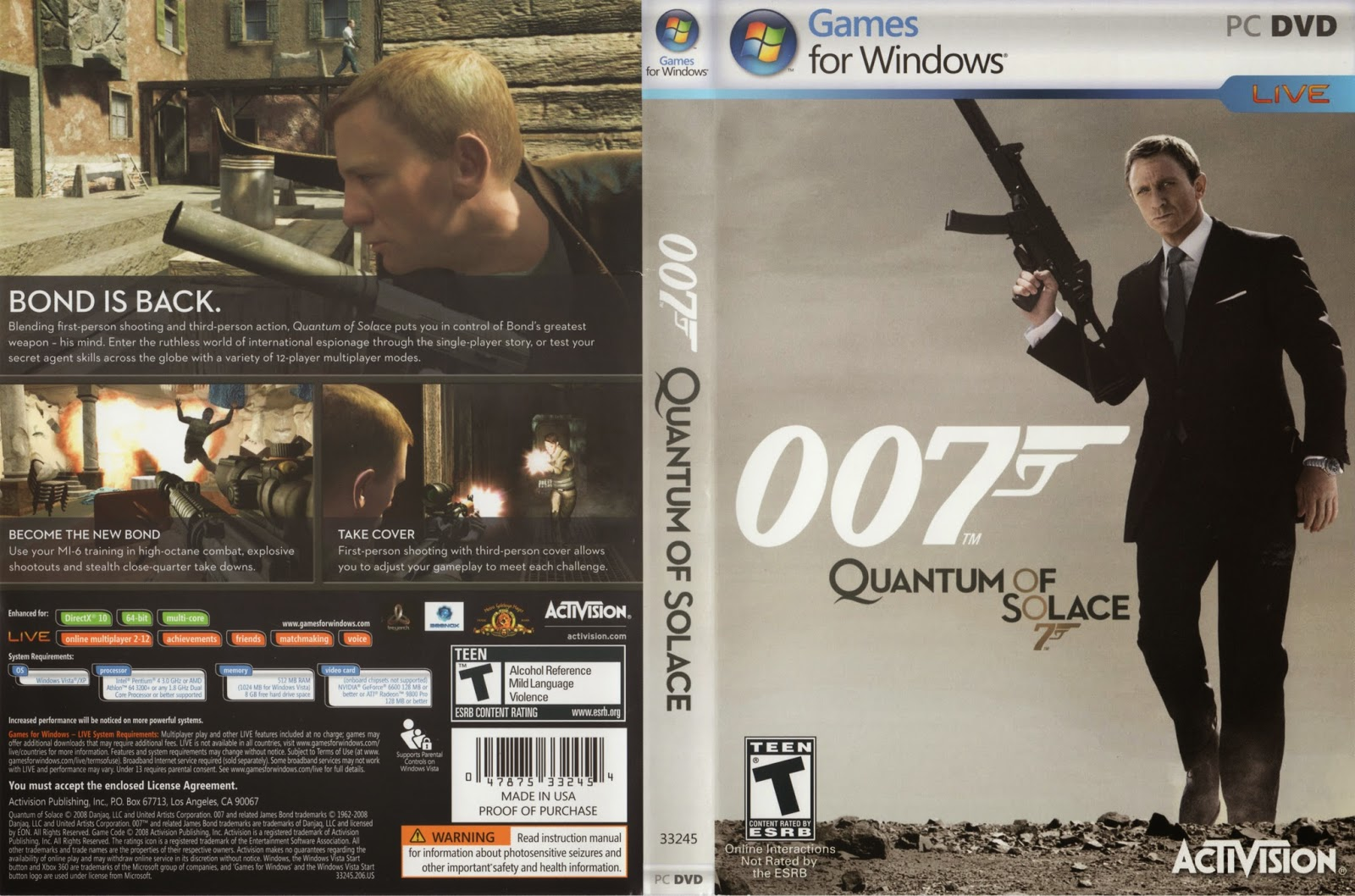 quantum of solace and james bond Just like last time, this one is easy because the short story quantum of solace  has absolutely nothing to do with the film adaptation aside from.