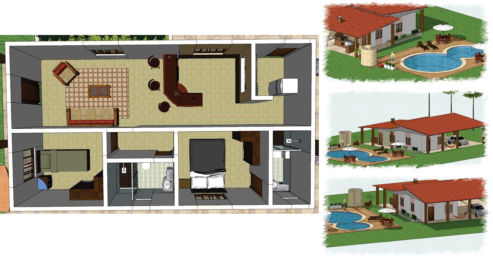 : Casa 1 suite • 1 quarto • sala • cozinha • banheiro  #87442C 1600 839