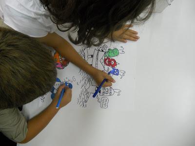 bambini colorano disegni fabrizio pani panif alieni in visita