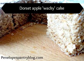 Penelope's Pantry: Dorset apple 'wacky' cake dairy free, egg free, vegan