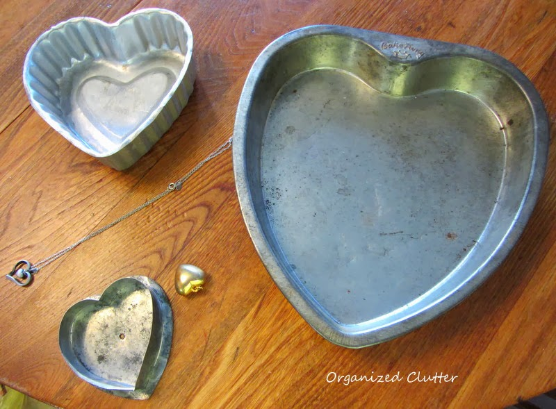 Scouring the Thrift Shops for Valentine Hearts www.organizedclutterqueen.blogspot.com
