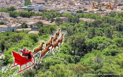Le Père Noël arrive à Nîmes