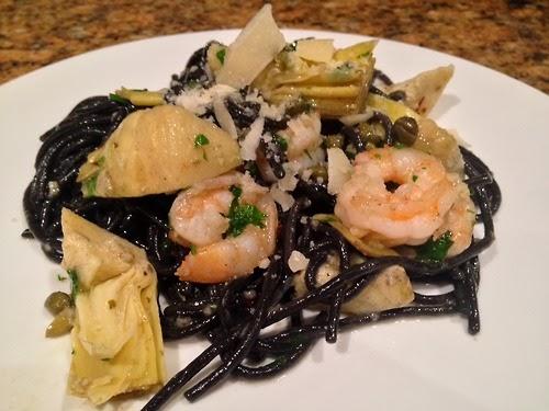 Tampa Uncorked: Recipe: Squid Ink Pasta and Shrimp Scampi