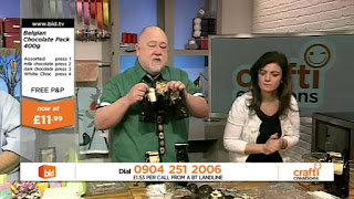 Chocolate demonstration on Crafti Creations Bid.tv
