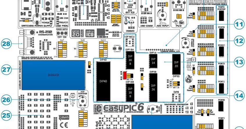 EasyPIC6 Schematic    Diagram     Schematic    diagram