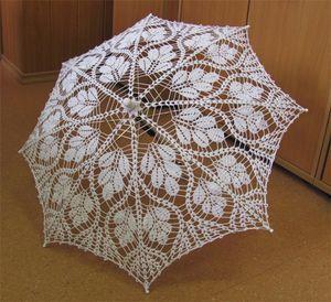 Зонты вязаные крючком.