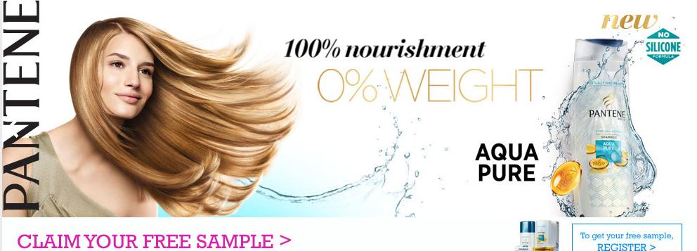 Pantene FREE Aqua Pure Sample Giveaway | Malaysia Free Sample Giveaway
