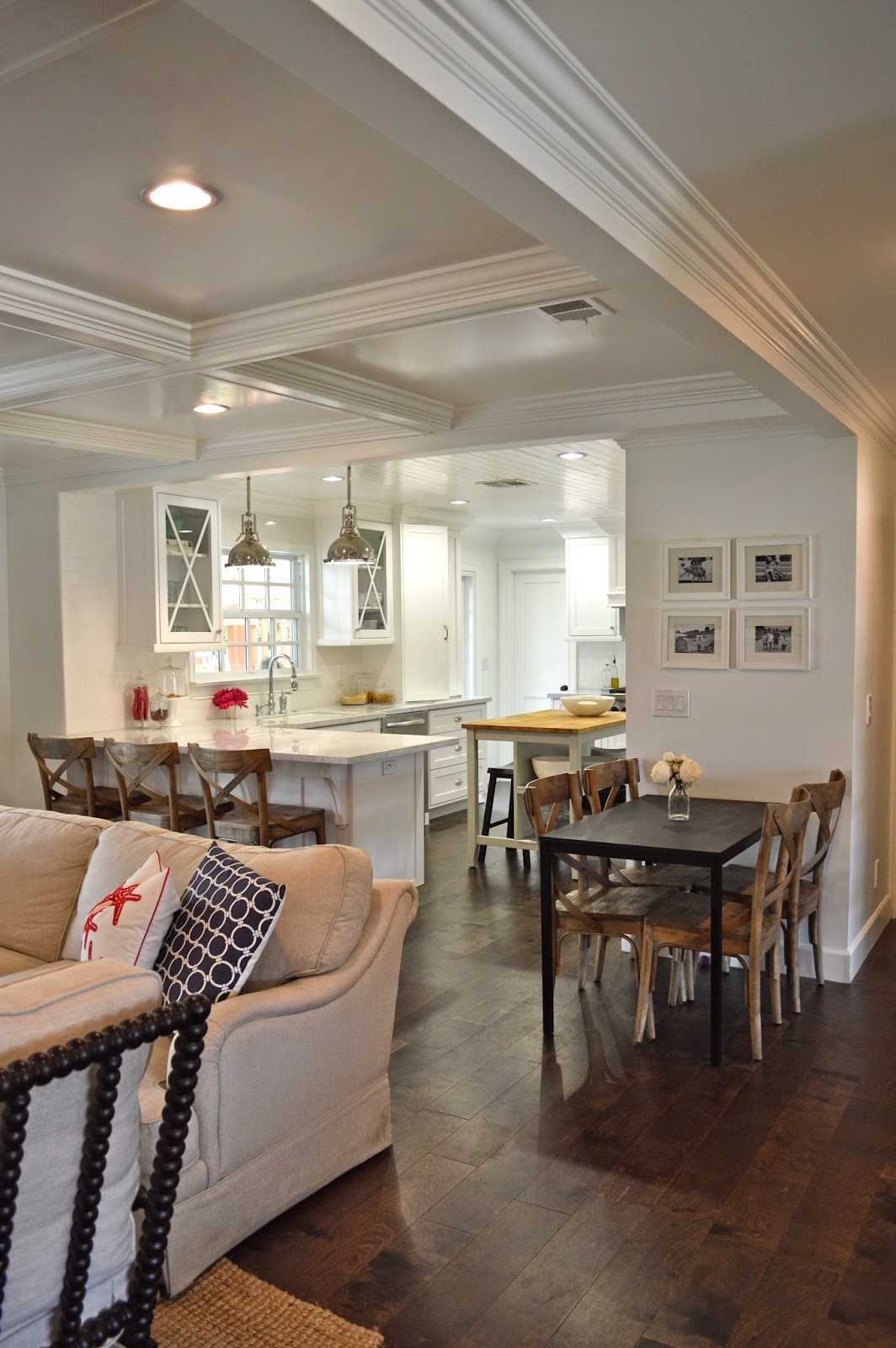 The cape cod ranch renovation great room entry for Great dining room ideas
