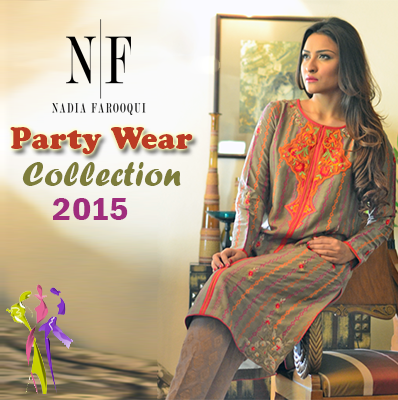 Nadia Farooqui Party Wear Dress Collection 2015