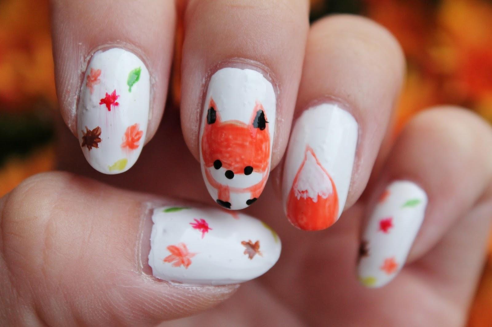 Fox Nail Art - Jersey Girl, Texan Heart